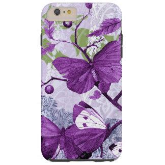 Purpurfärgade fjärilar på en gren tough iPhone 6 plus fodral