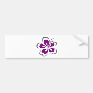 Purpurfärgade gåvor för hibiskusHawaii tema Bildekal