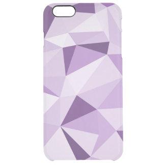 Purpurfärgade geometriska abstrakt trianglar clear iPhone 6 plus skal