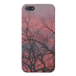 Purpurfärgade himmlar iPhone 5 hud