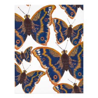 Purpurfärgade kejsarefjärilar brevhuvud