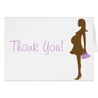 Purpurfärgade kort för Silhouettebaby showertack
