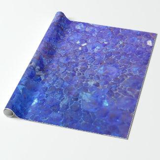 Purpurfärgade kvartar/Geode sten som slår in Presentpapper