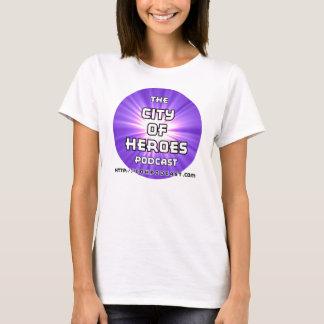 Purpurfärgade kvinna för CoH Podcast snitt T-shirt