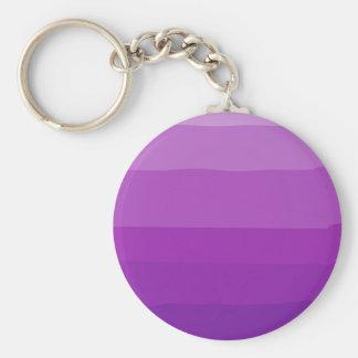 Purpurfärgade Ombre Customizeable Keychain Rund Nyckelring