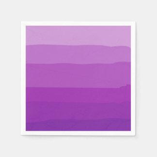 Purpurfärgade Ombre pappra servetter
