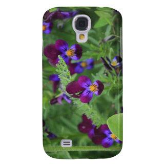 Purpurfärgade Pansies Galaxy S4 Fodral