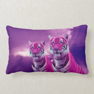Purpurfärgade tigrar lumbarkudde