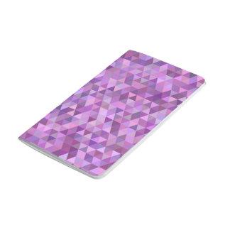 Purpurfärgade trianglar anteckningsbok