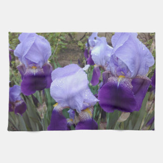 Purpurfärgade tyska Irises Kökshandduk