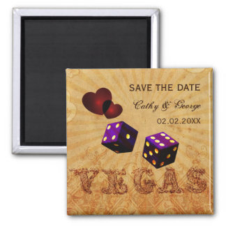 purpurfärgade Vegas vintagespara datum magneter