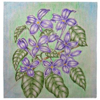 Purpurfärgade Violets Tygservett