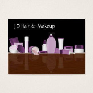 purpurfärgade visitkortar för Makeupkonstnär