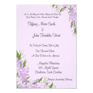 Purpurfärgade Wisteriabröllopinbjudningar Anpassade Inbjudan