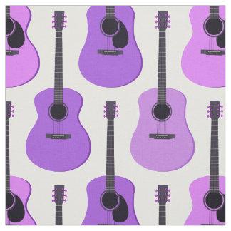 Purpurfärgat akustiskt gitarrmönster