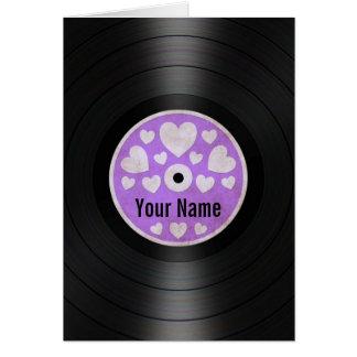 Purpurfärgat album för rekord för hälsningskort