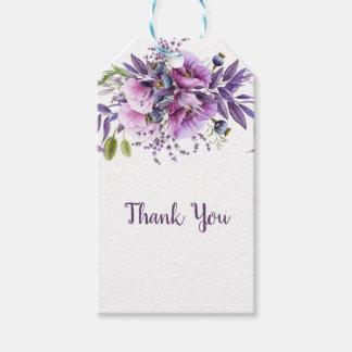 Purpurfärgat blom- tack | för violett lavendel presentetikett