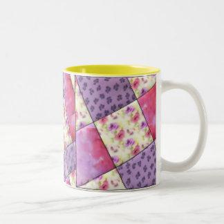 Purpurfärgat blom- täcke för KRW Två-Tonad Mugg