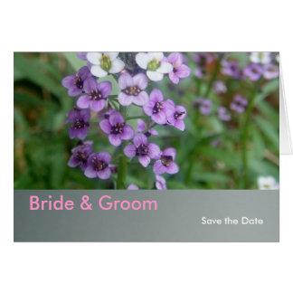 Purpurfärgat bröllop hälsningskort