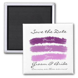 Purpurfärgat bröllop magnet