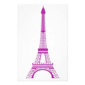 Purpurfärgat Eiffel torn Brevpapper