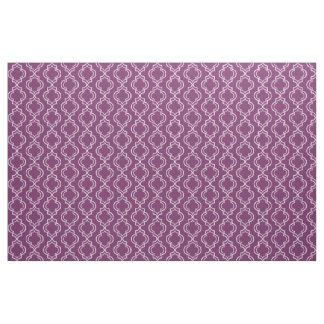 Purpurfärgat elegantt marockanskt spaljémönster tyg