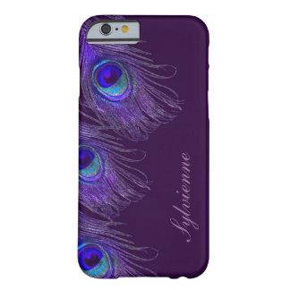 purpurfärgat fodral för påfågeliPhone 6 Barely There iPhone 6 Skal