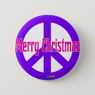 Purpurfärgat fredsymbol standard knapp rund 5.7 cm