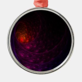 Purpurfärgat fyrverkeri julgransprydnad metall