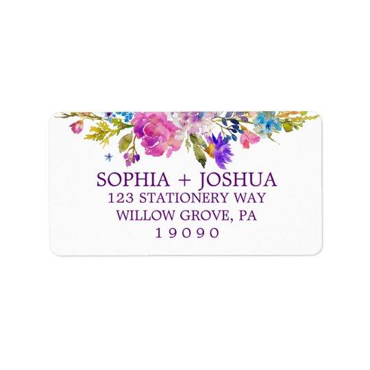 Purpurfärgat gifta sig för rosa- och adressetikett
