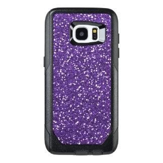 Purpurfärgat Glam och glitter OtterBox Samsung Galaxy S7 Edge Skal