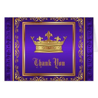 Purpurfärgat guld- kronatack OBS kort