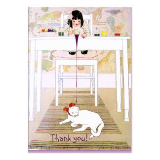 Purpurfärgat katttack för vintage