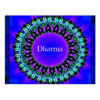 Purpurfärgat mönster för Buddha sanningsDarma Vykort