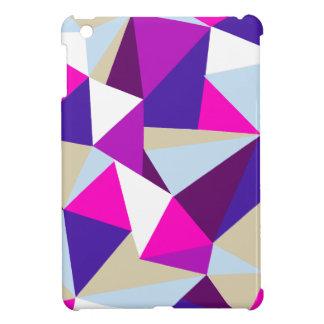 purpurfärgat mönster för rosablåtttriangel iPad mini mobil fodral