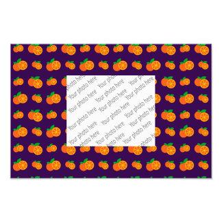 Purpurfärgat orangemönster fototryck