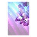 purpurfärgat orchidbröllop för romantisk elegant g brevpapper design
