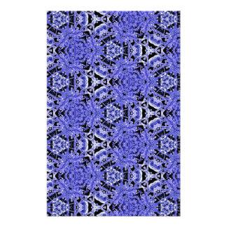 Purpurfärgat rent modernt geometriskt mönster för brevpapper