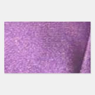 purpurfärgat tyg rektangulärt klistermärke