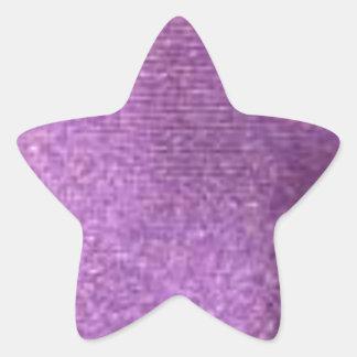 purpurfärgat tyg stjärnformat klistermärke