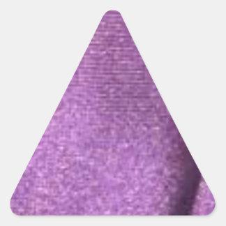 purpurfärgat tyg triangelformat klistermärke