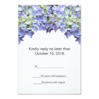 Purpurfärgat vanlig hortensiabröllop OSA 8,9 X 12,7 Cm Inbjudningskort