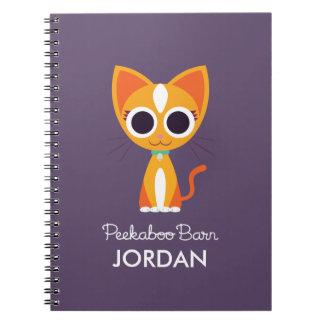 Purrl katten anteckningsbok med spiral