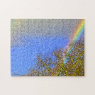 Pussel - dubbel regnbåge i himmlen