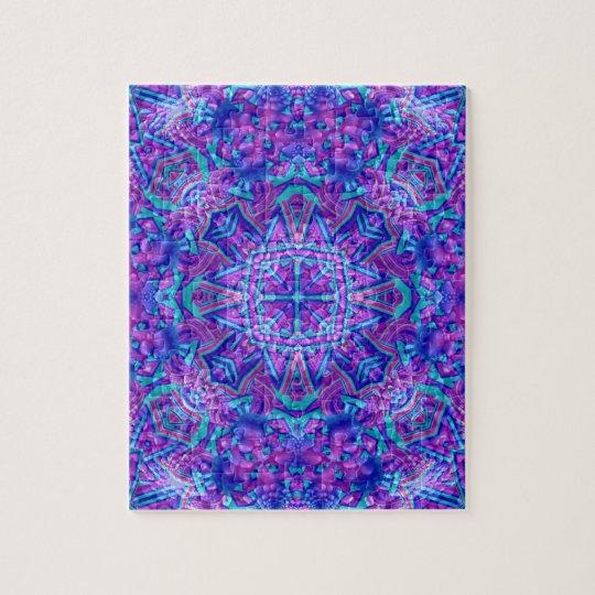 Pussel för lila- och blåttvintageKaleidoscope