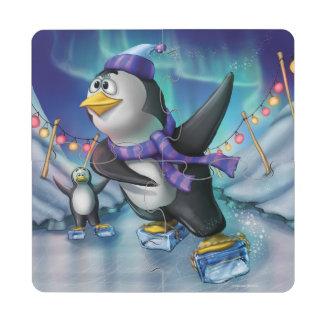 Pussel Glasunderlägg för pingvin för Gnome för