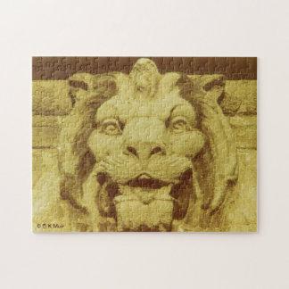 Pussel - lejont huvud