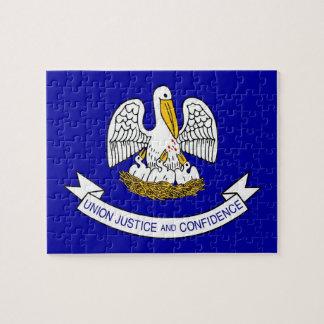 Pussel med den statliga flagga av Louisiana