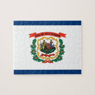 Pussel med flagga av West Virginia