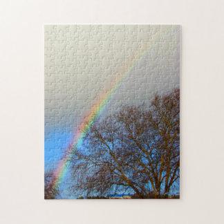 Pussel - regnbåge i himmlen